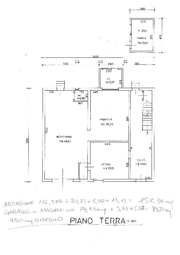 Planimetria /1 per rif. 20/847
