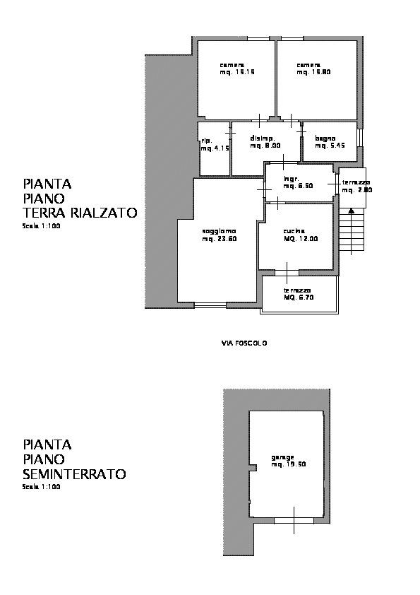 Planimetria /1 per rif. B/136