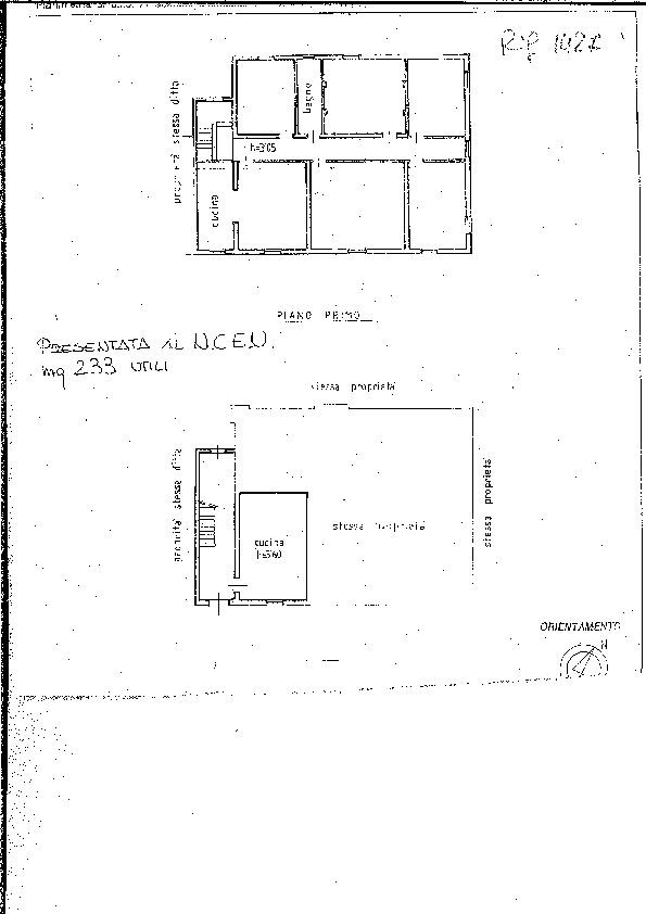 Planimetria 1/1 per rif. 1427