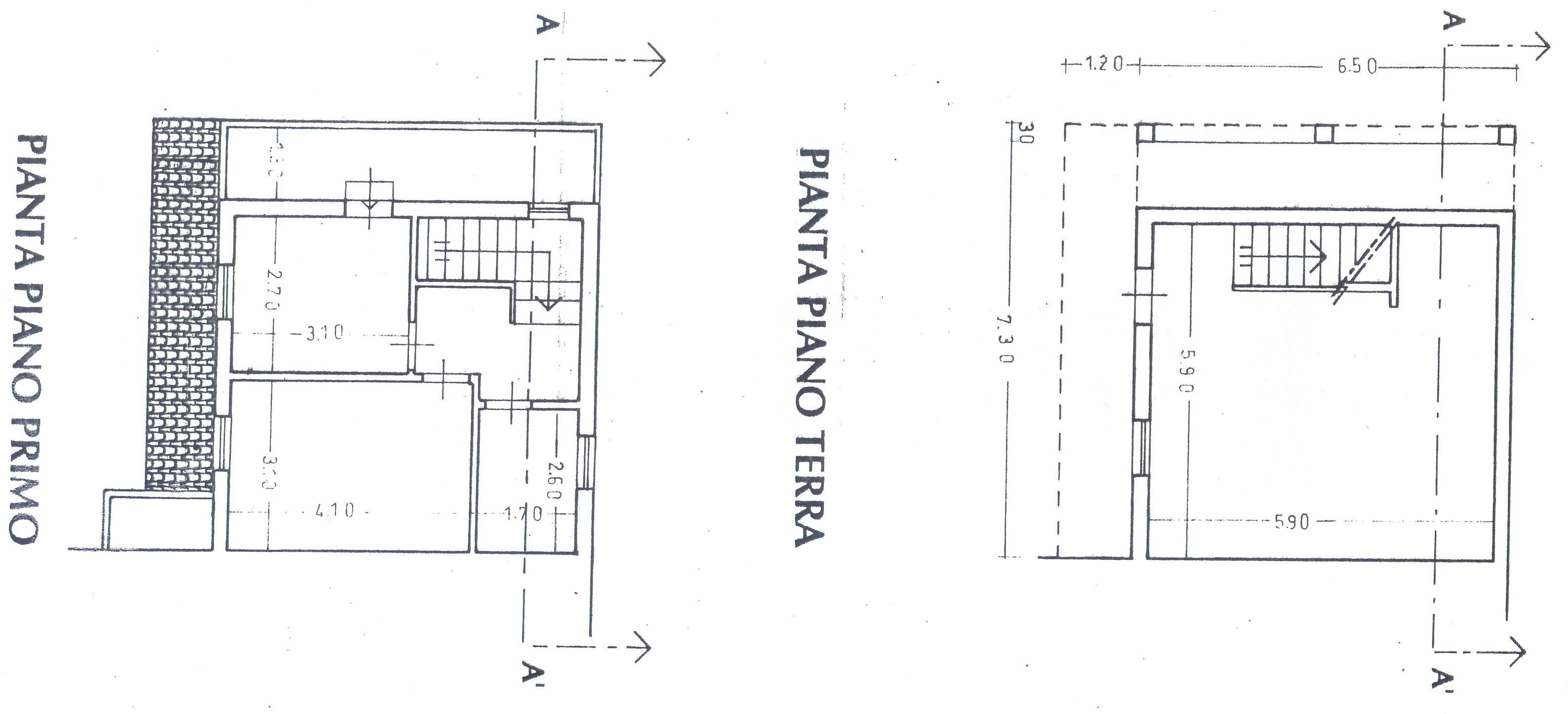 Planimetria 1/2 per rif. 1467