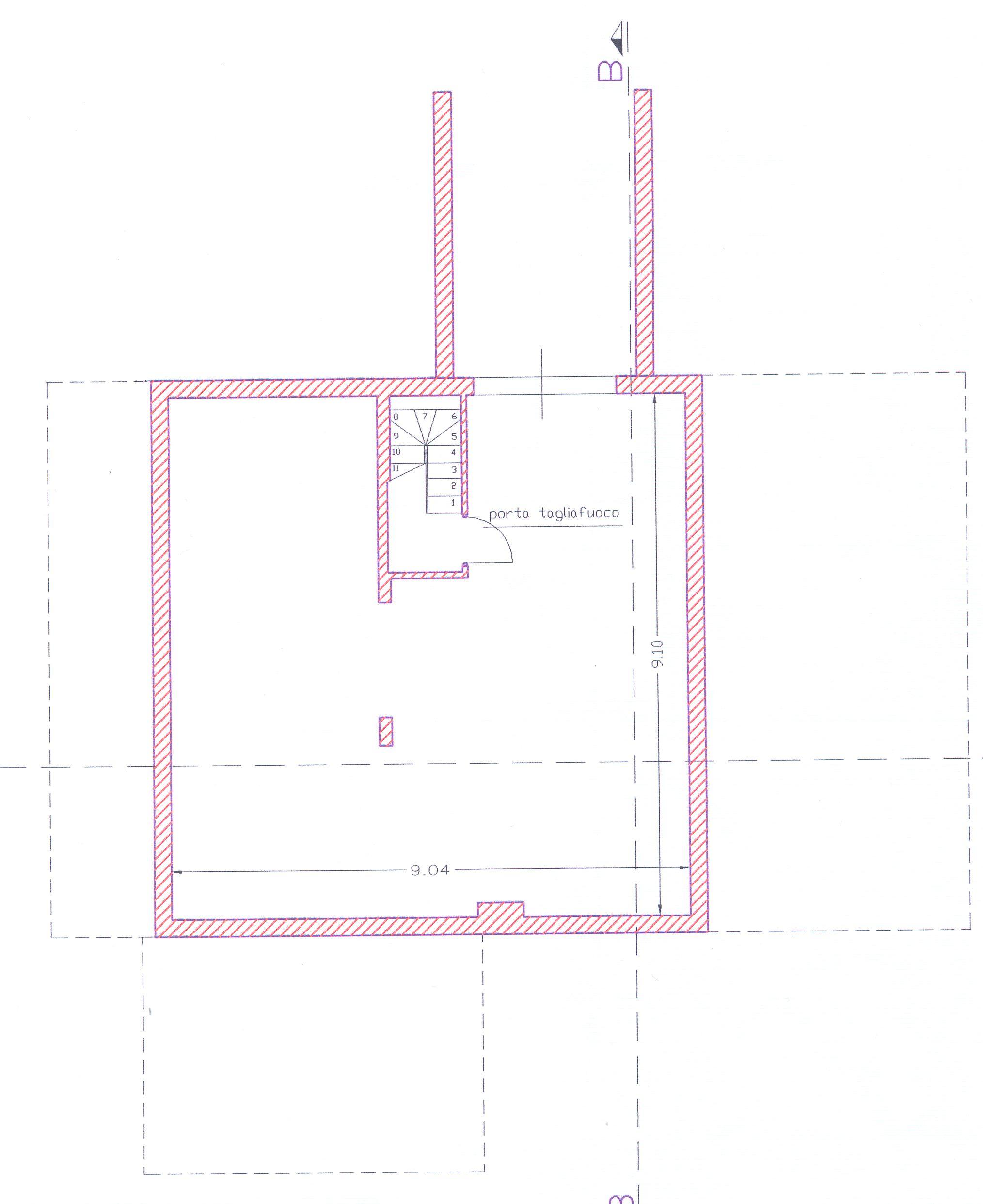 Planimetria 1/4 per rif. 1/2178