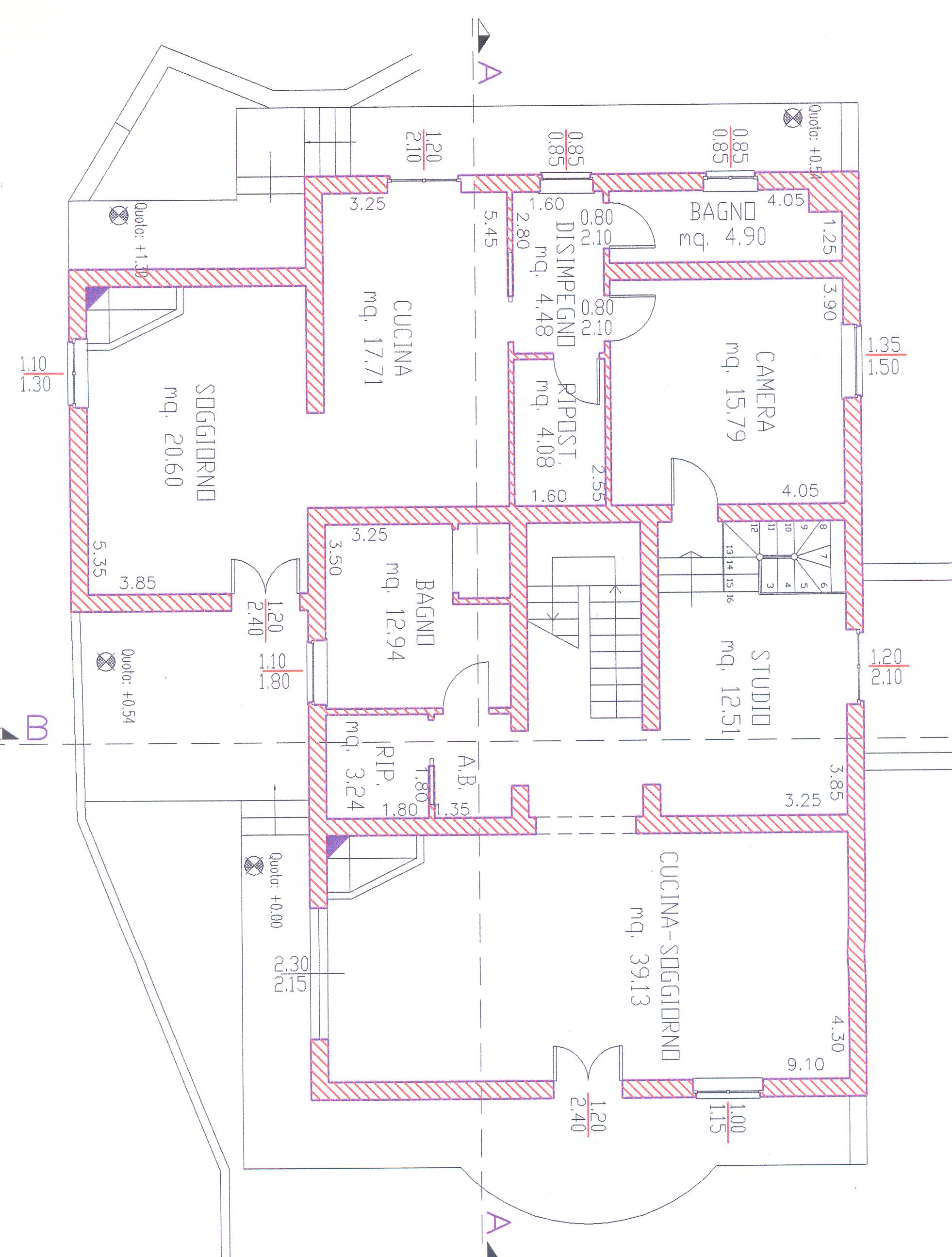Planimetria 2/4 per rif. 1/2178