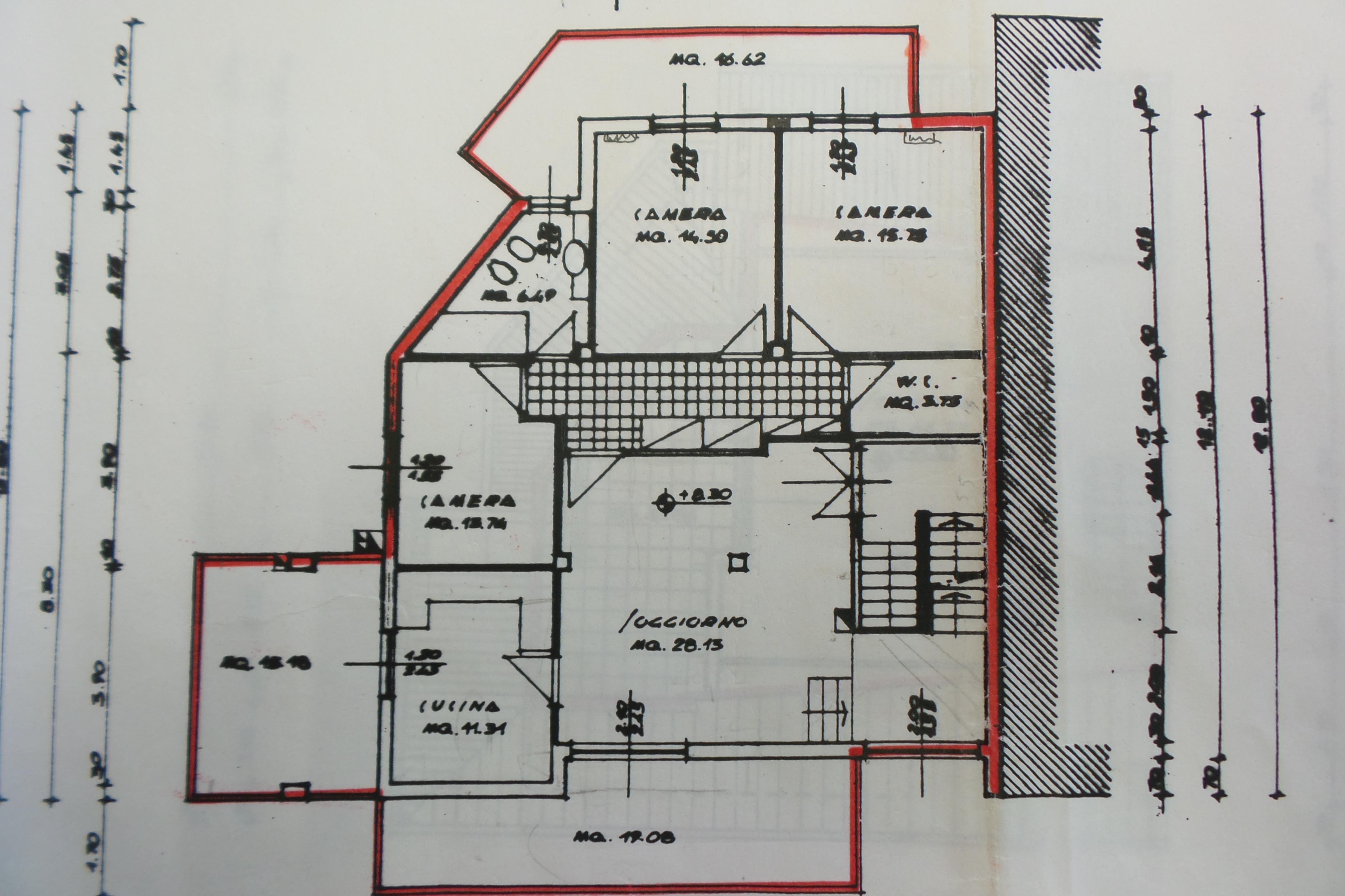 Planimetria 1/3 per rif. 1/2180