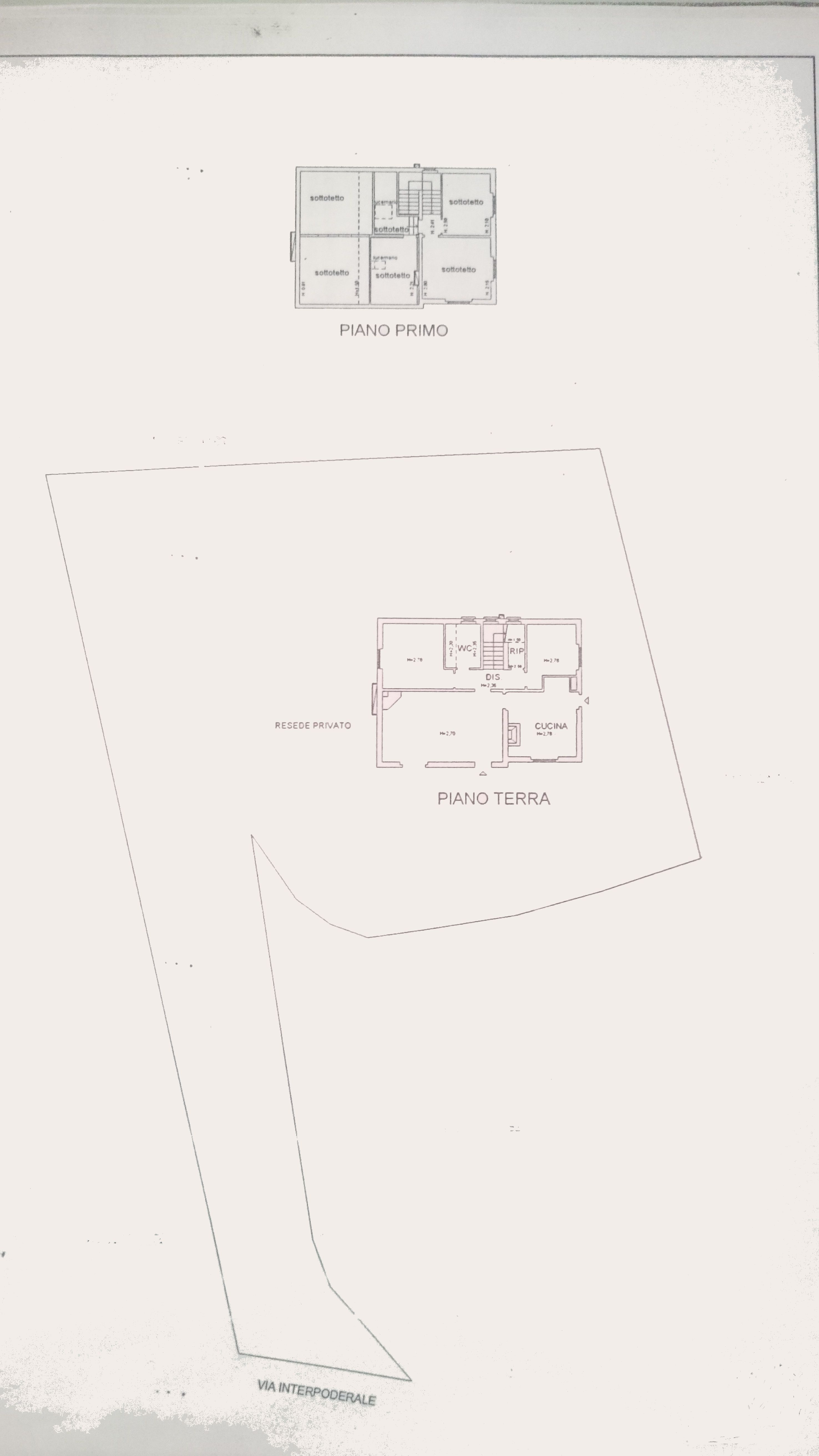Planimetria 1/3 per rif. M/0153
