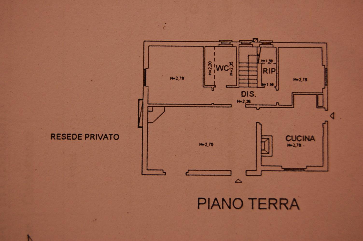 Planimetria 2/3 per rif. M/0153