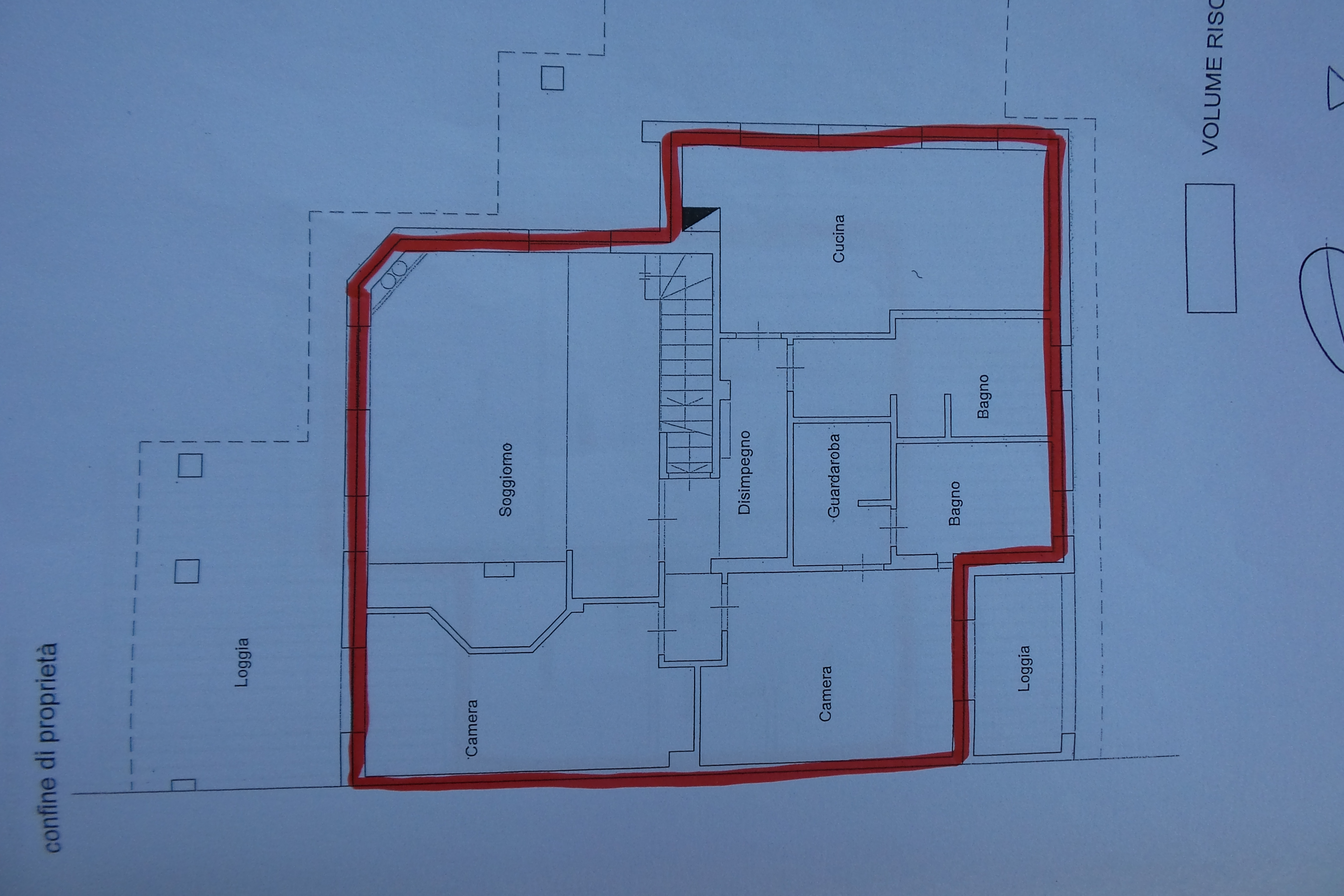 Planimetria 2/3 per rif. 1/3200