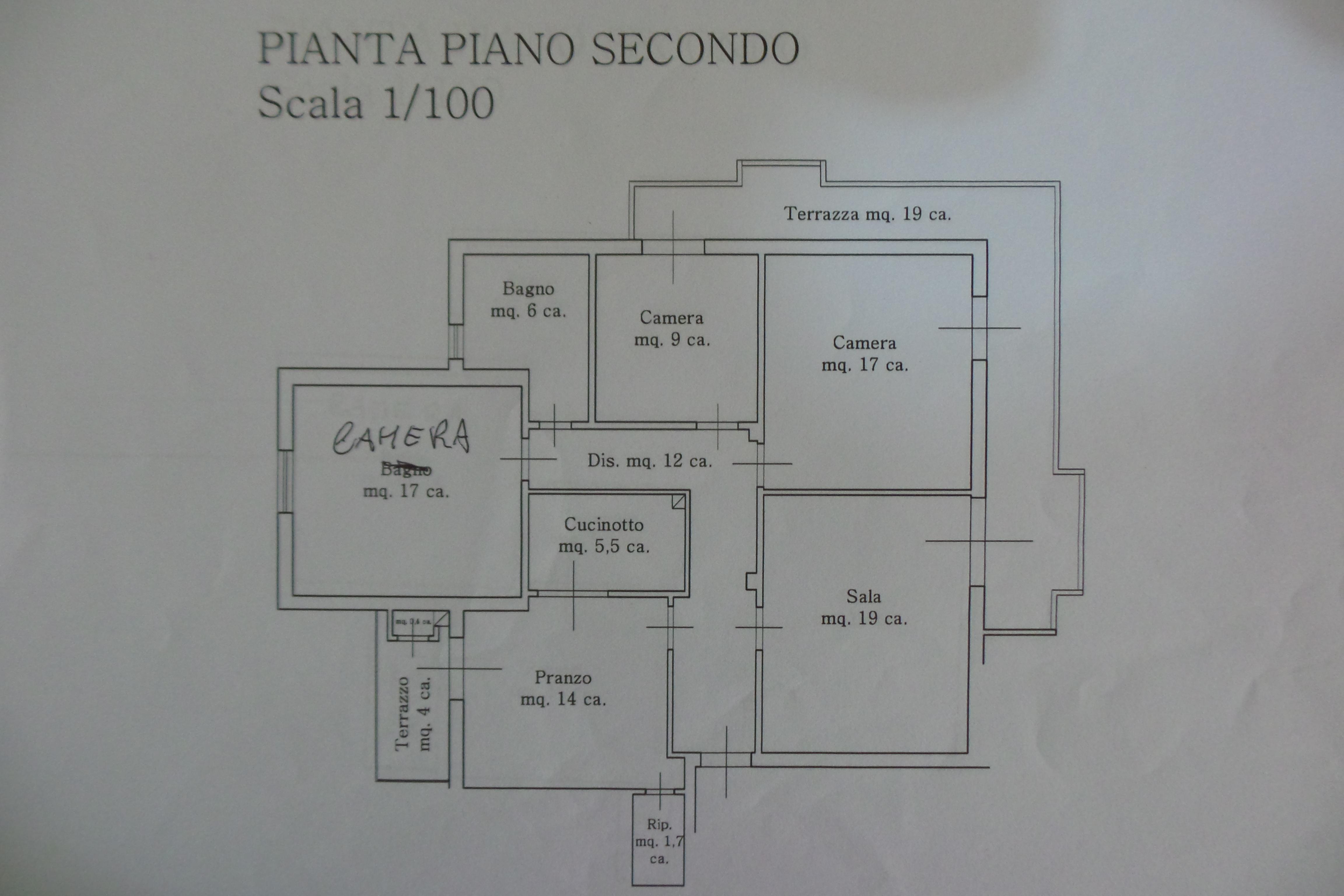 Planimetria 1/1 per rif. B/0001