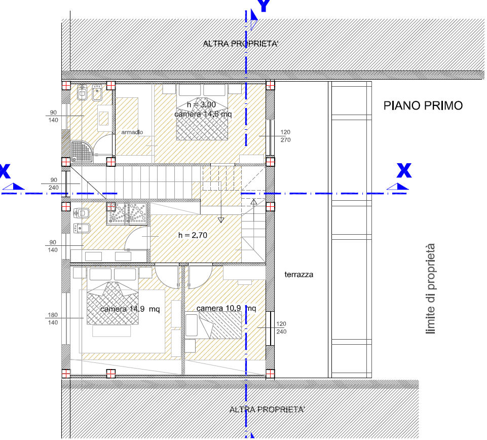 Planimetria 3/4 per rif. F/0032