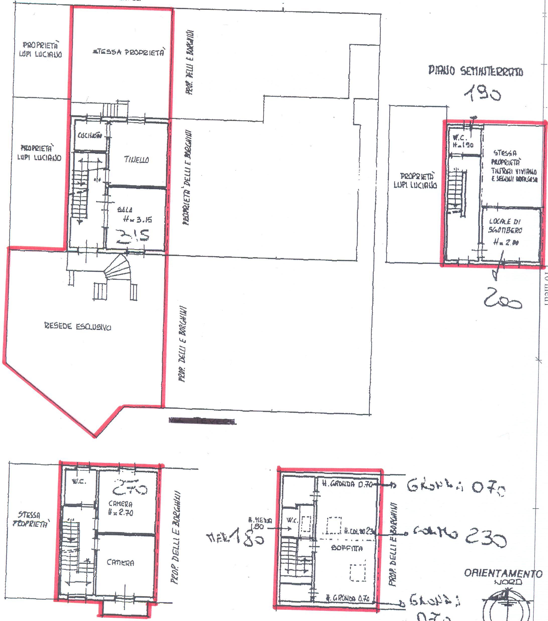 Planimetria 1/1 per rif. F/0071