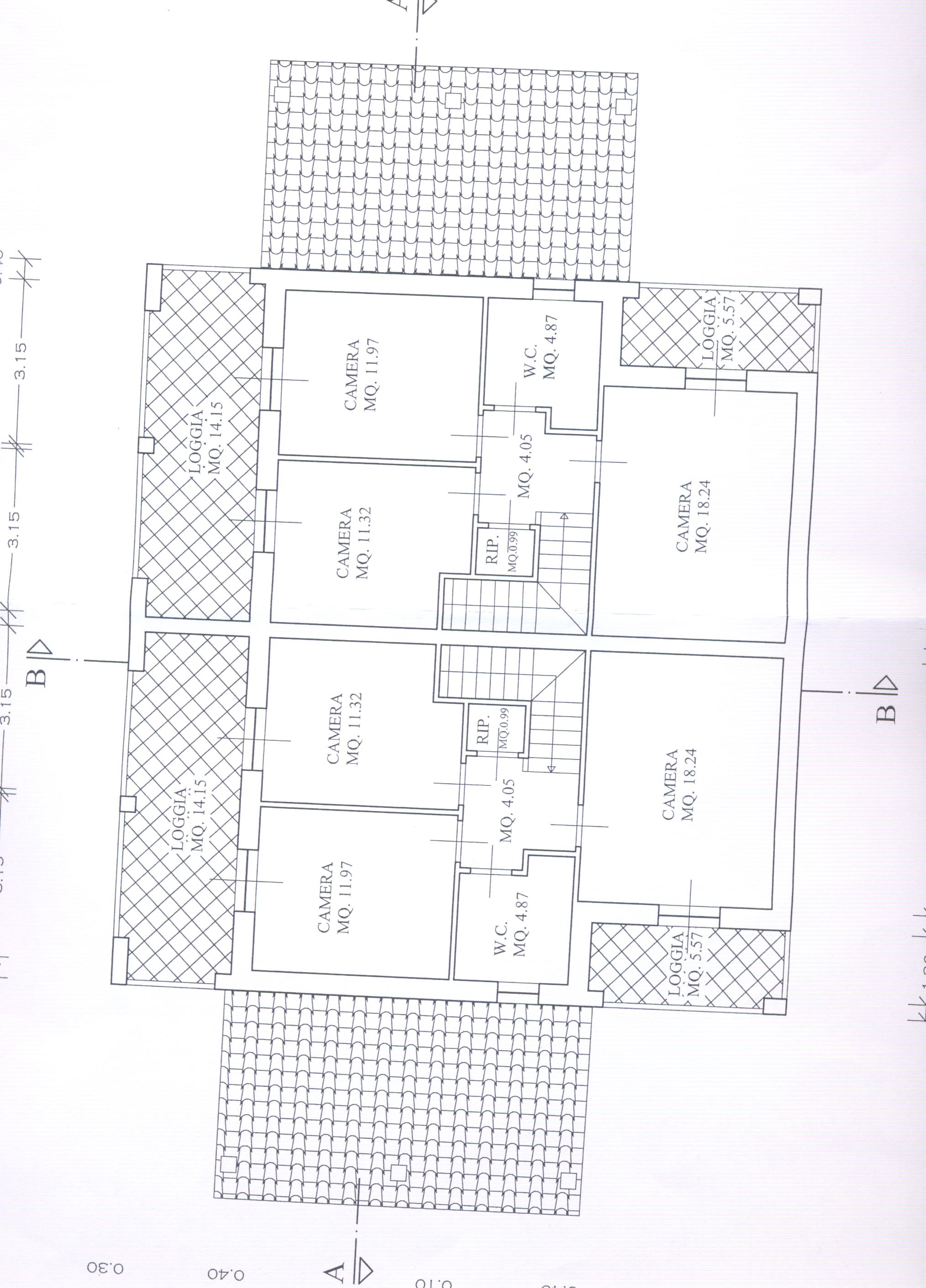 Planimetria 2/3 per rif. F/0077