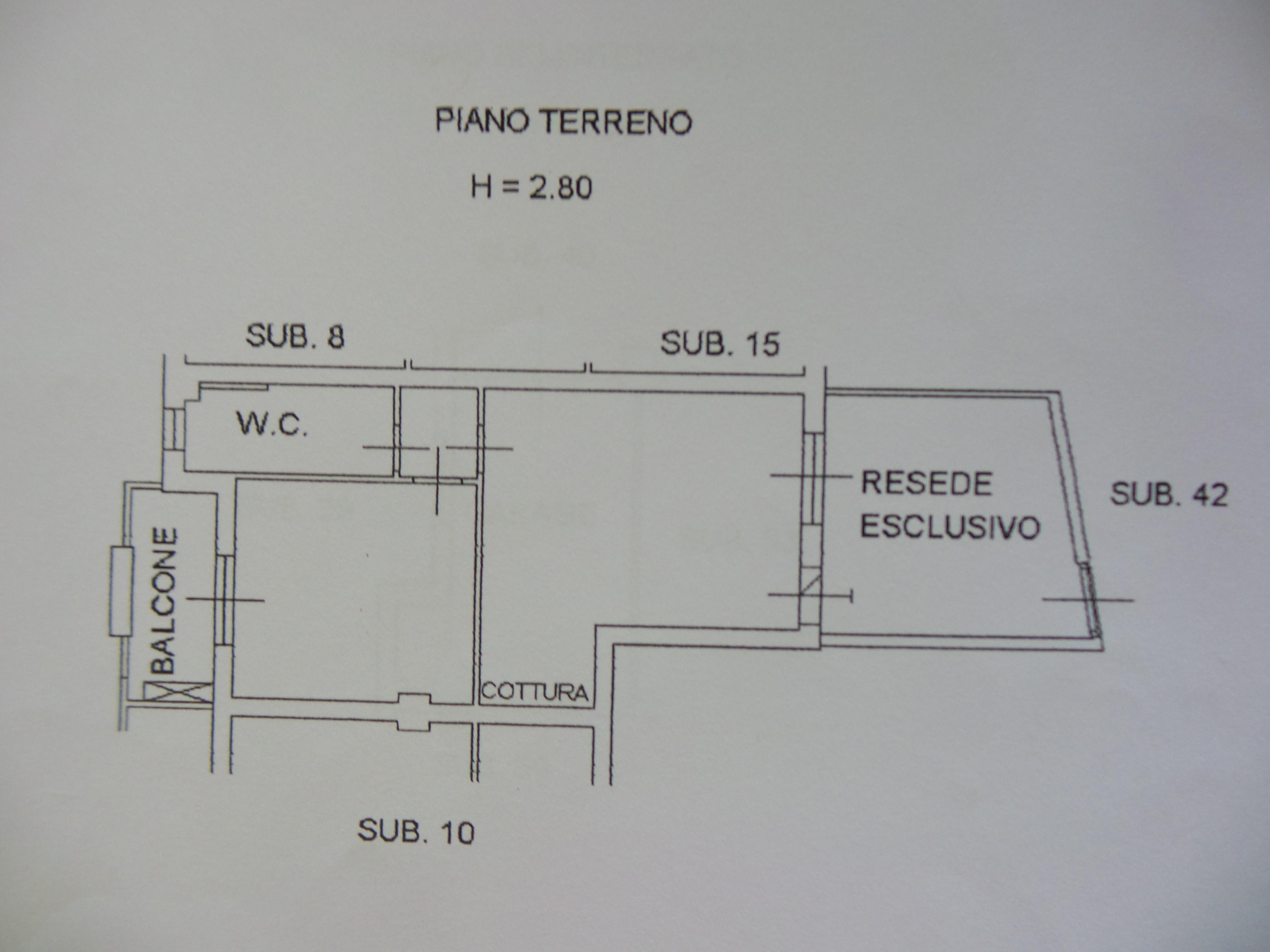 Planimetria 2/2 per rif. B/0027