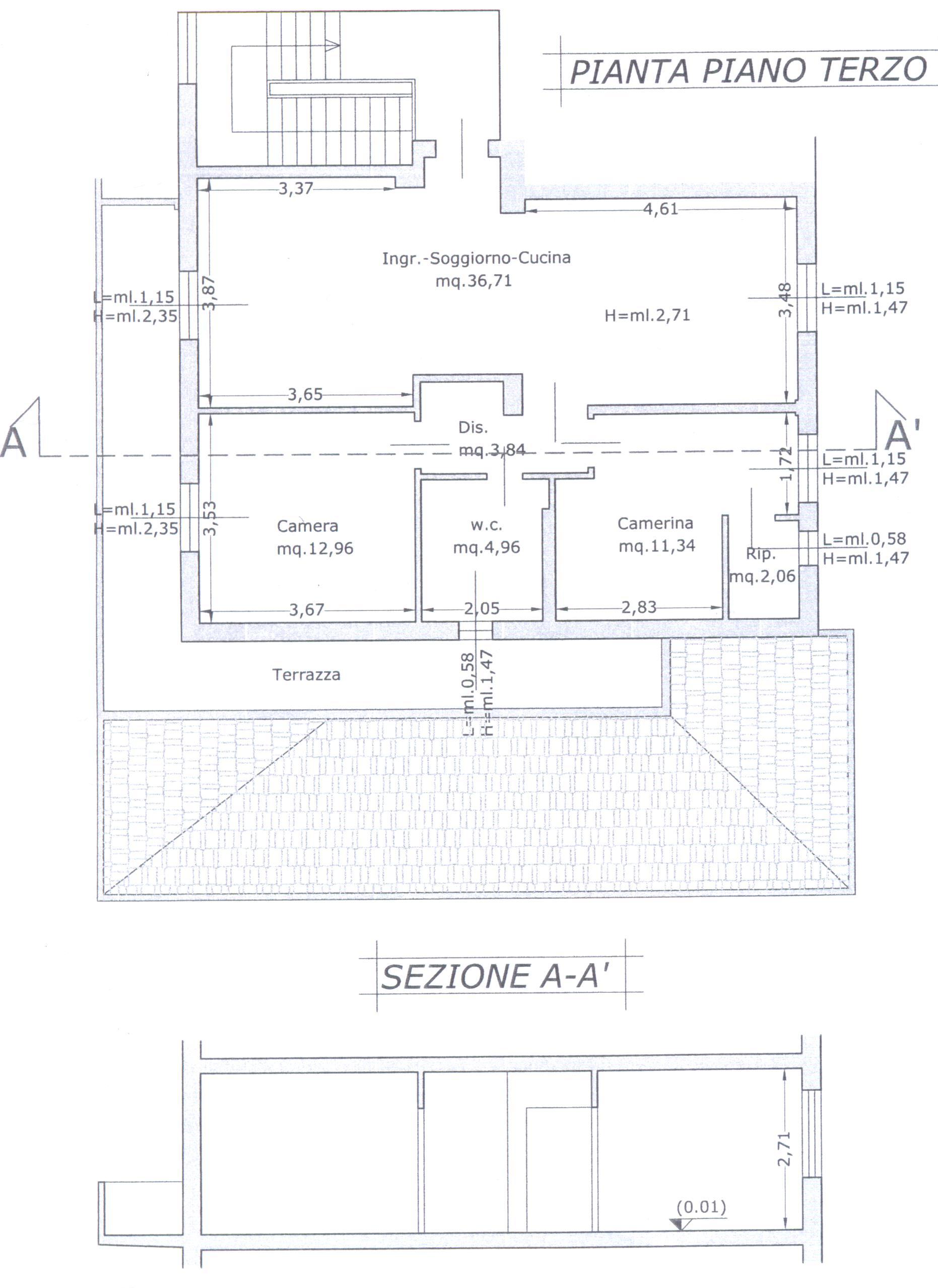 Planimetria 1/1 per rif. F/0090