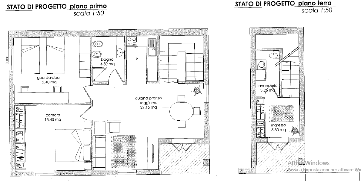 Planimetria 2/2 per rif. B/0036