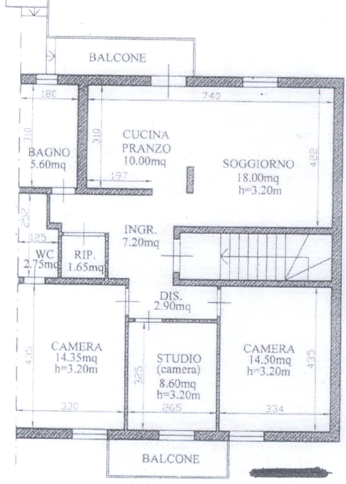Planimetria 1/2 per rif. F/0105