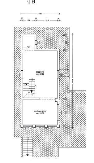 Planimetria 1/3 per rif. M/0080