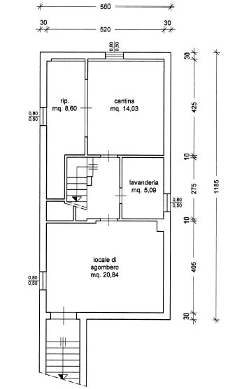 Planimetria 3/3 per rif. M/0080