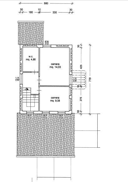Planimetria 2/3 per rif. M/0080