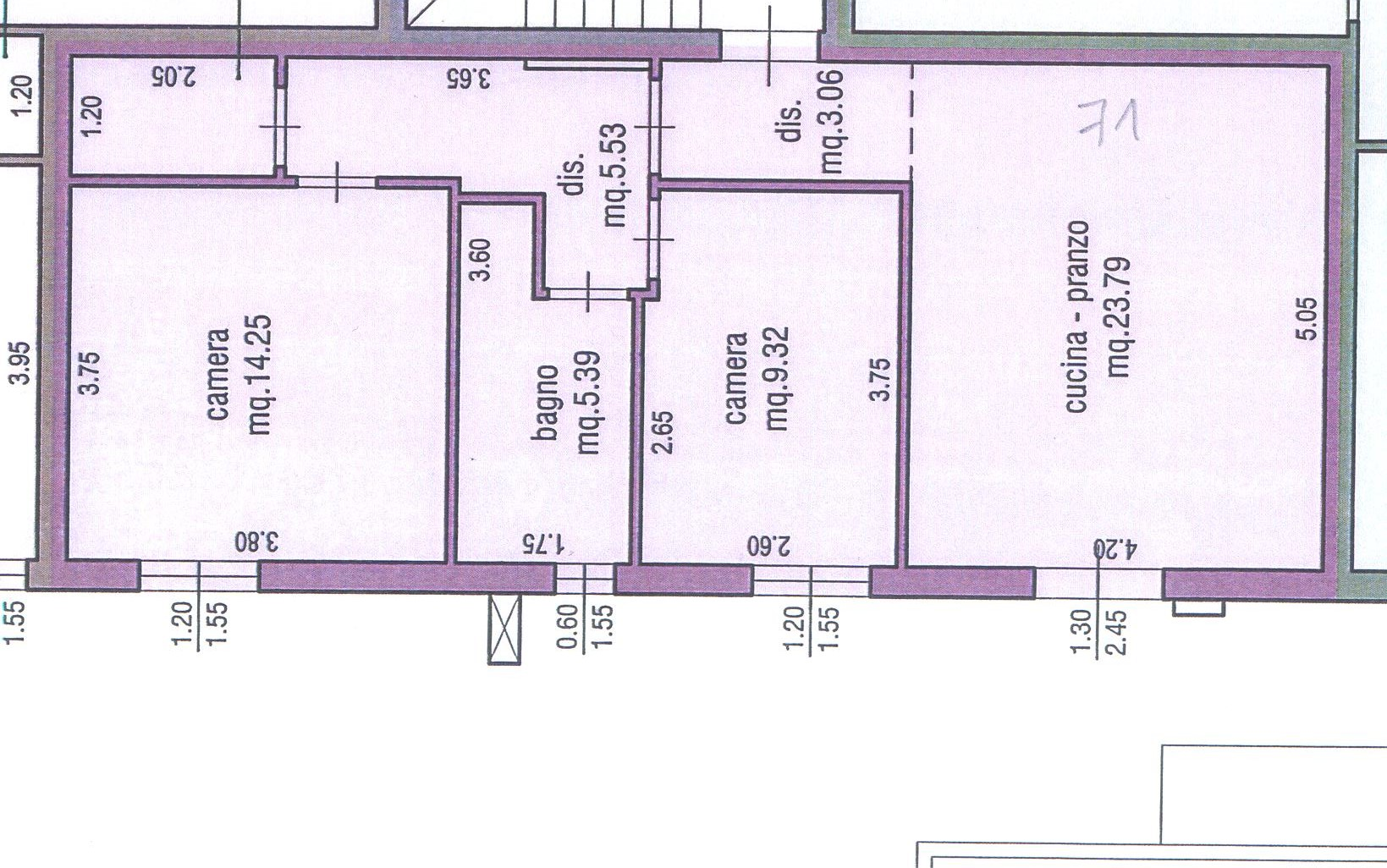 Planimetria 1/1 per rif. M/0082