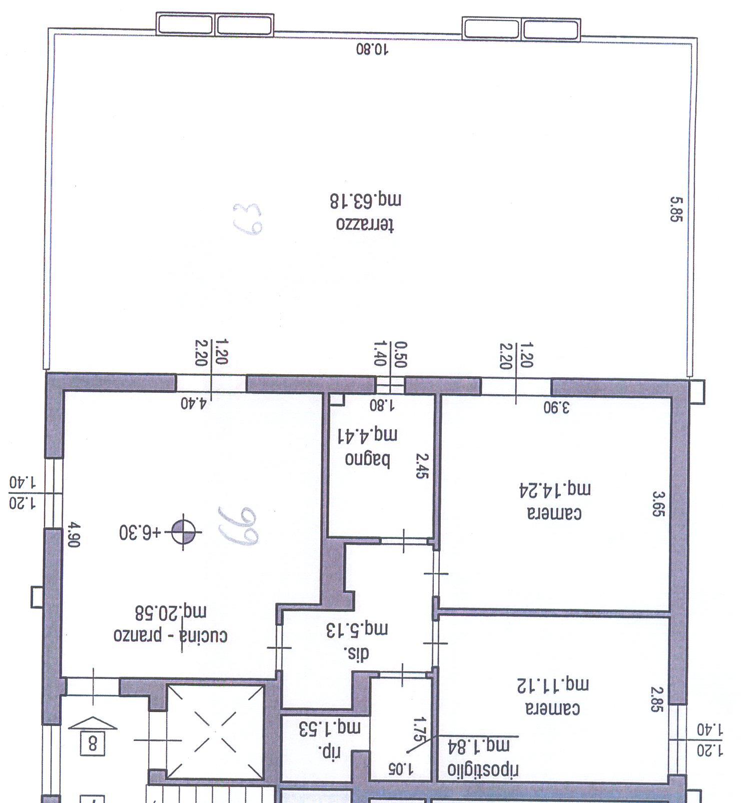 Planimetria 1/1 per rif. M/0084