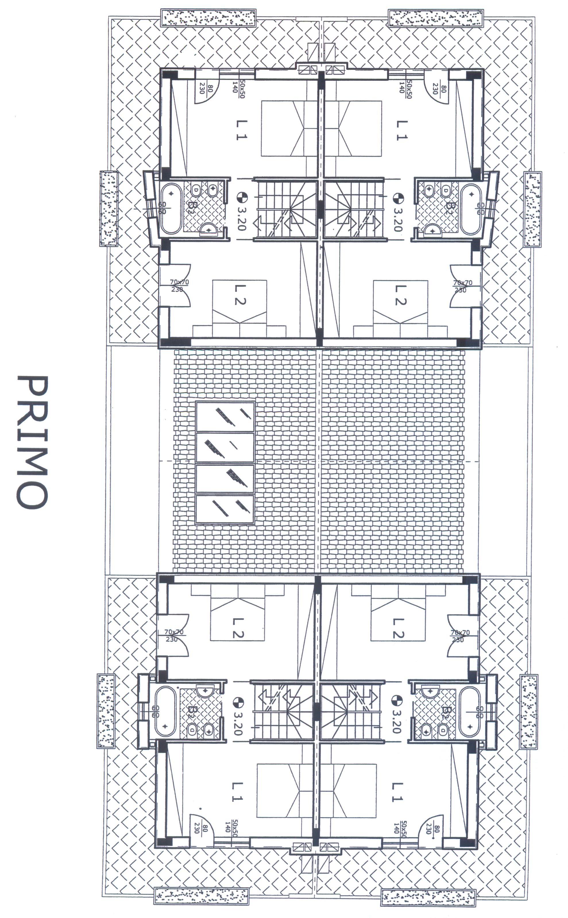 Planimetria 3/4 per rif. F/0116