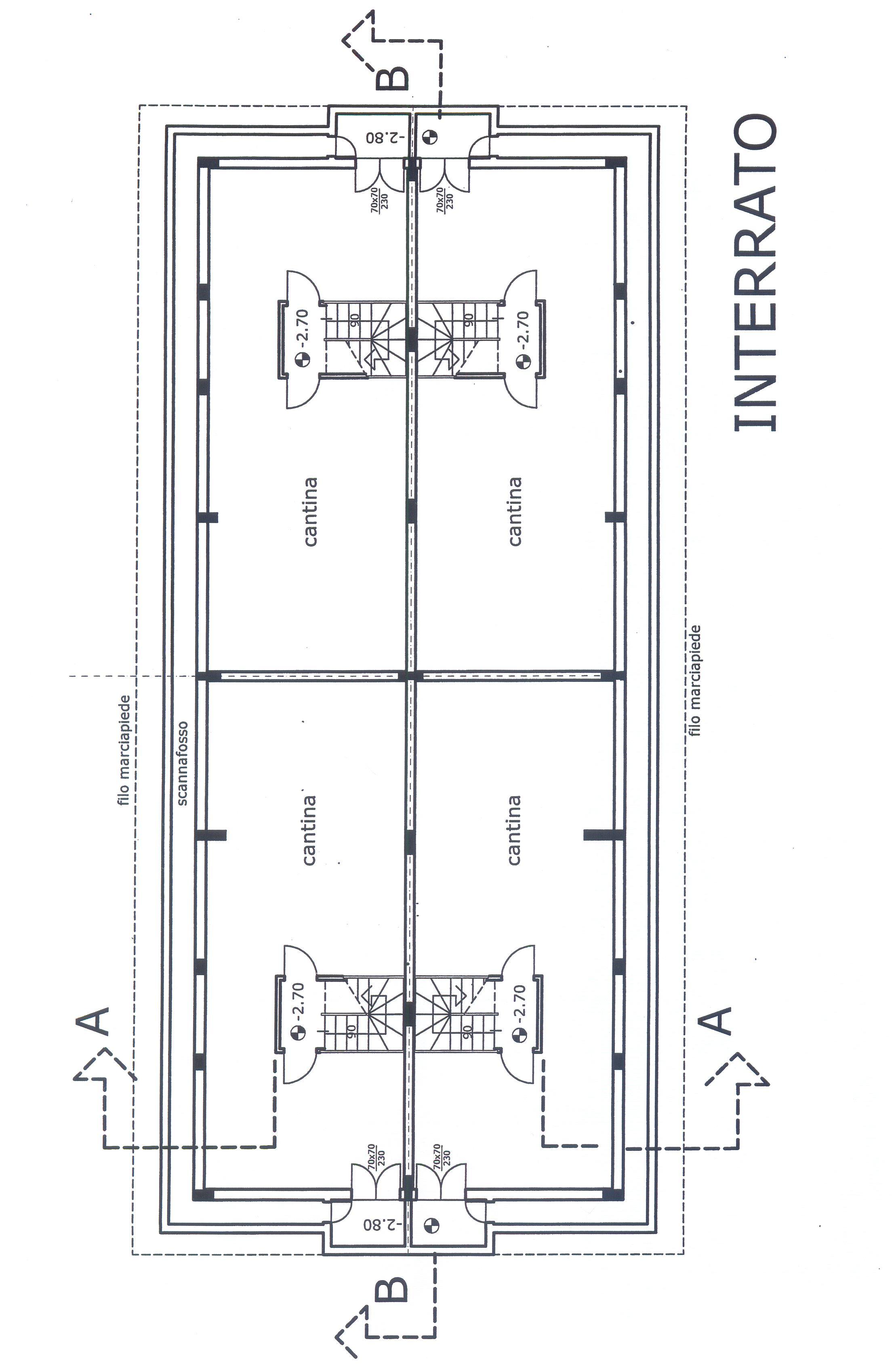 Planimetria 1/4 per rif. F/0116