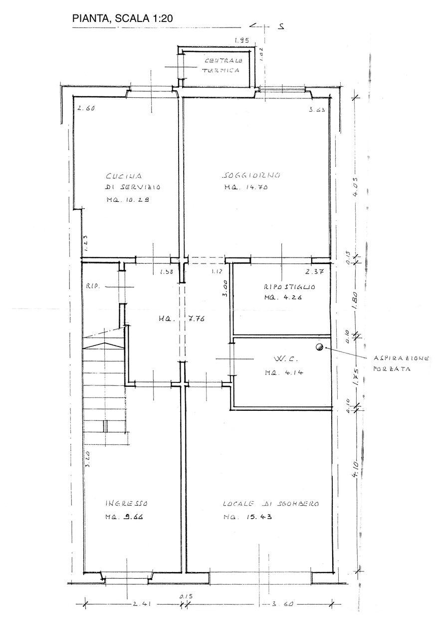 Planimetria 1/4 per rif. B/0070