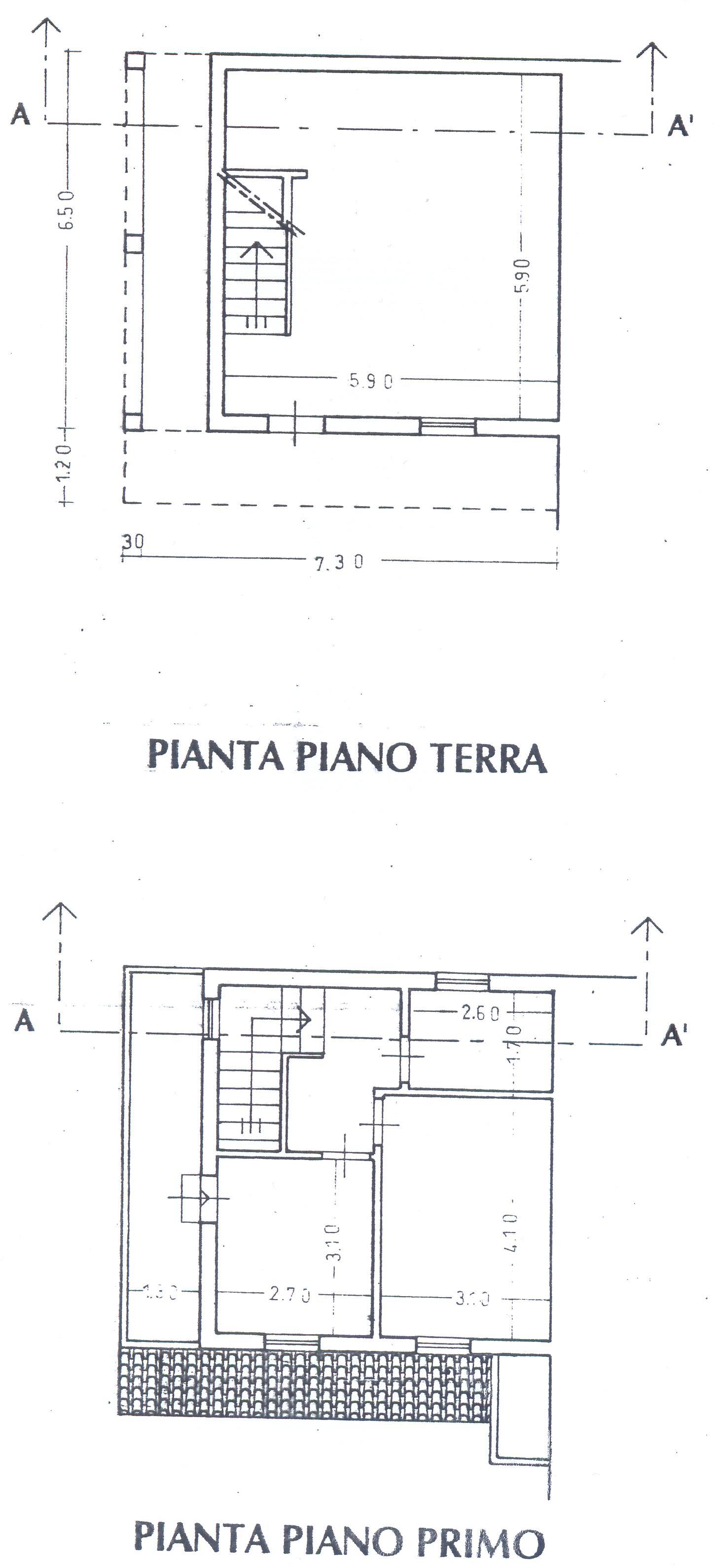 Planimetria 1/2 per rif. F/0122