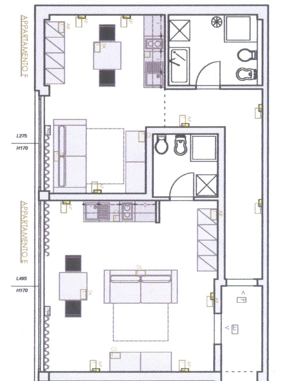 Planimetria 1/1 per rif. B/0072