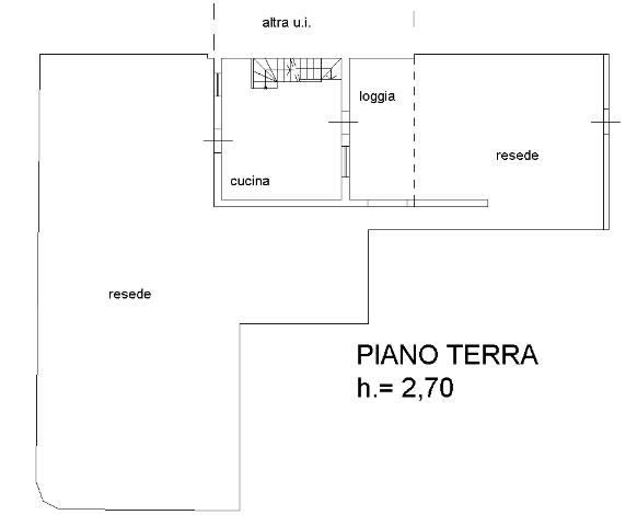 Planimetria 1/3 per rif. B/0075