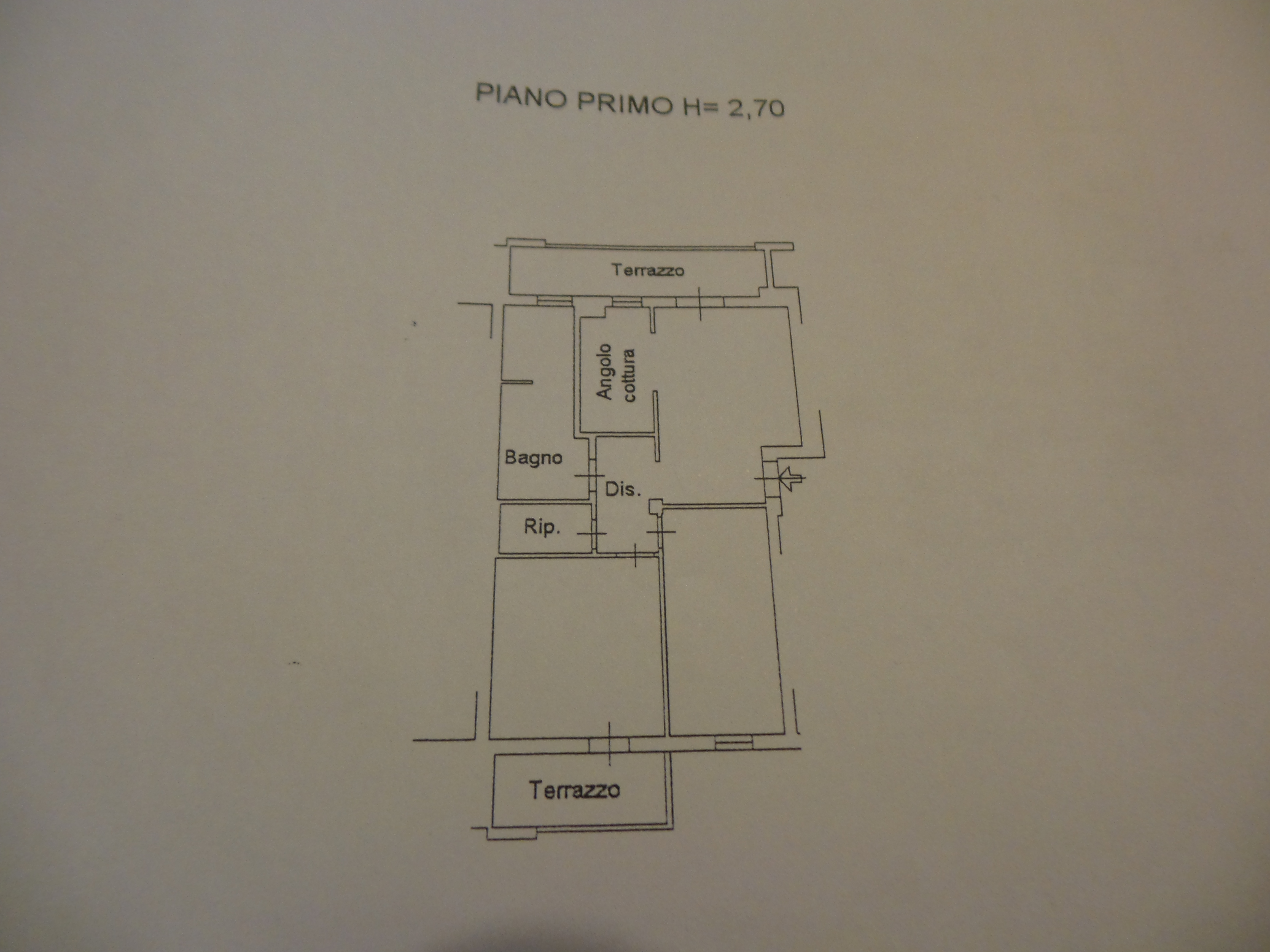Planimetria 1/1 per rif. P/0054