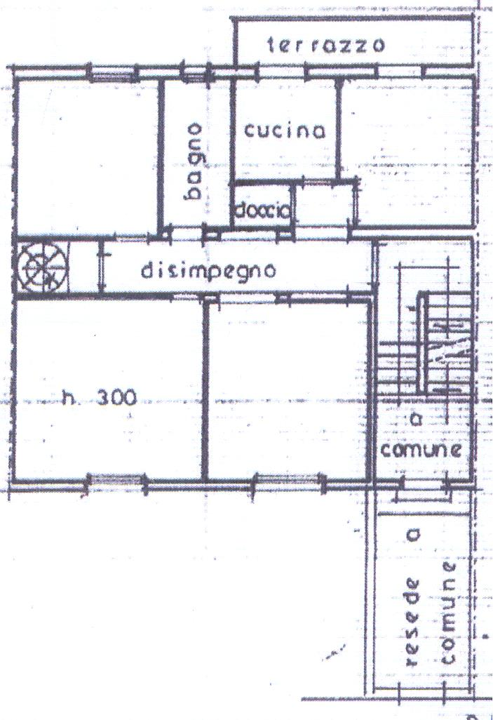 Planimetria 1/3 per rif. P/0058