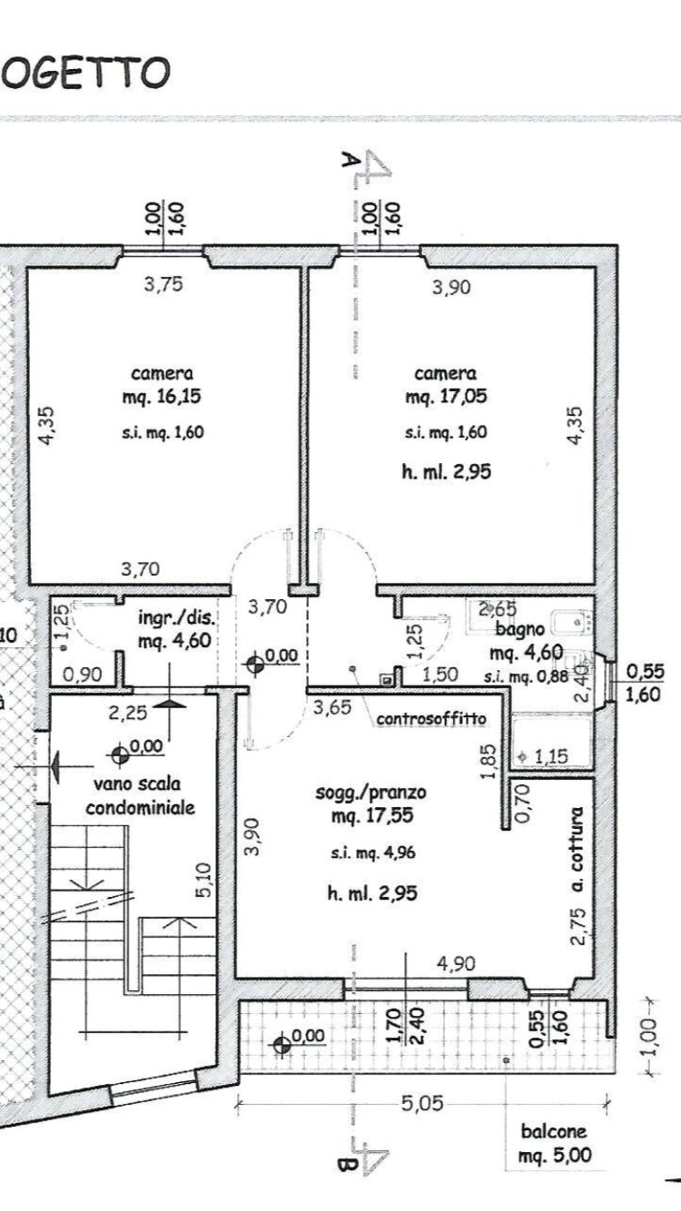Planimetria 1/1 per rif. B/0134