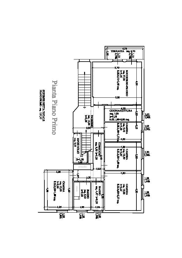 Planimetria 1/2 per rif. B/0105