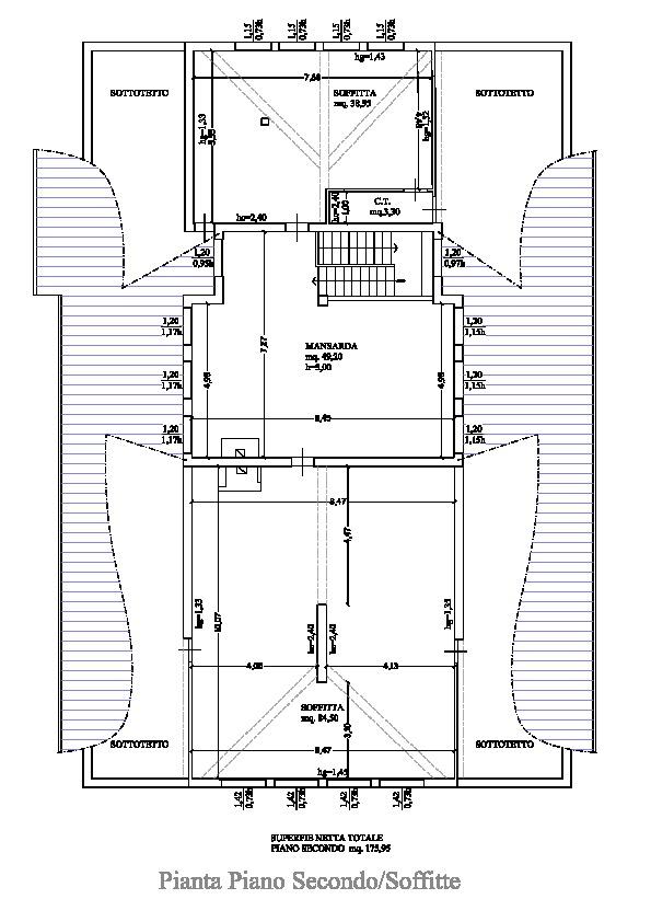 Planimetria 2/2 per rif. B/0105