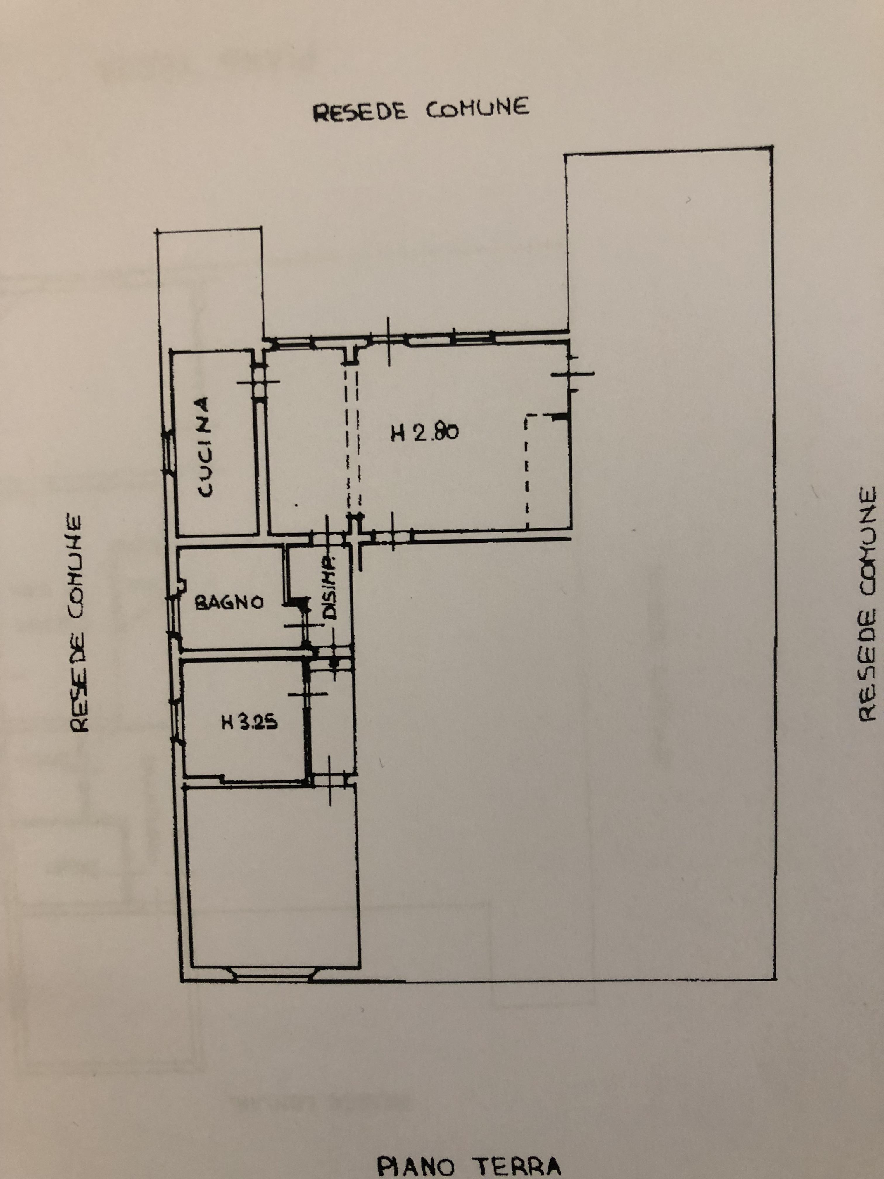 Planimetria 3/4 per rif. F/0167