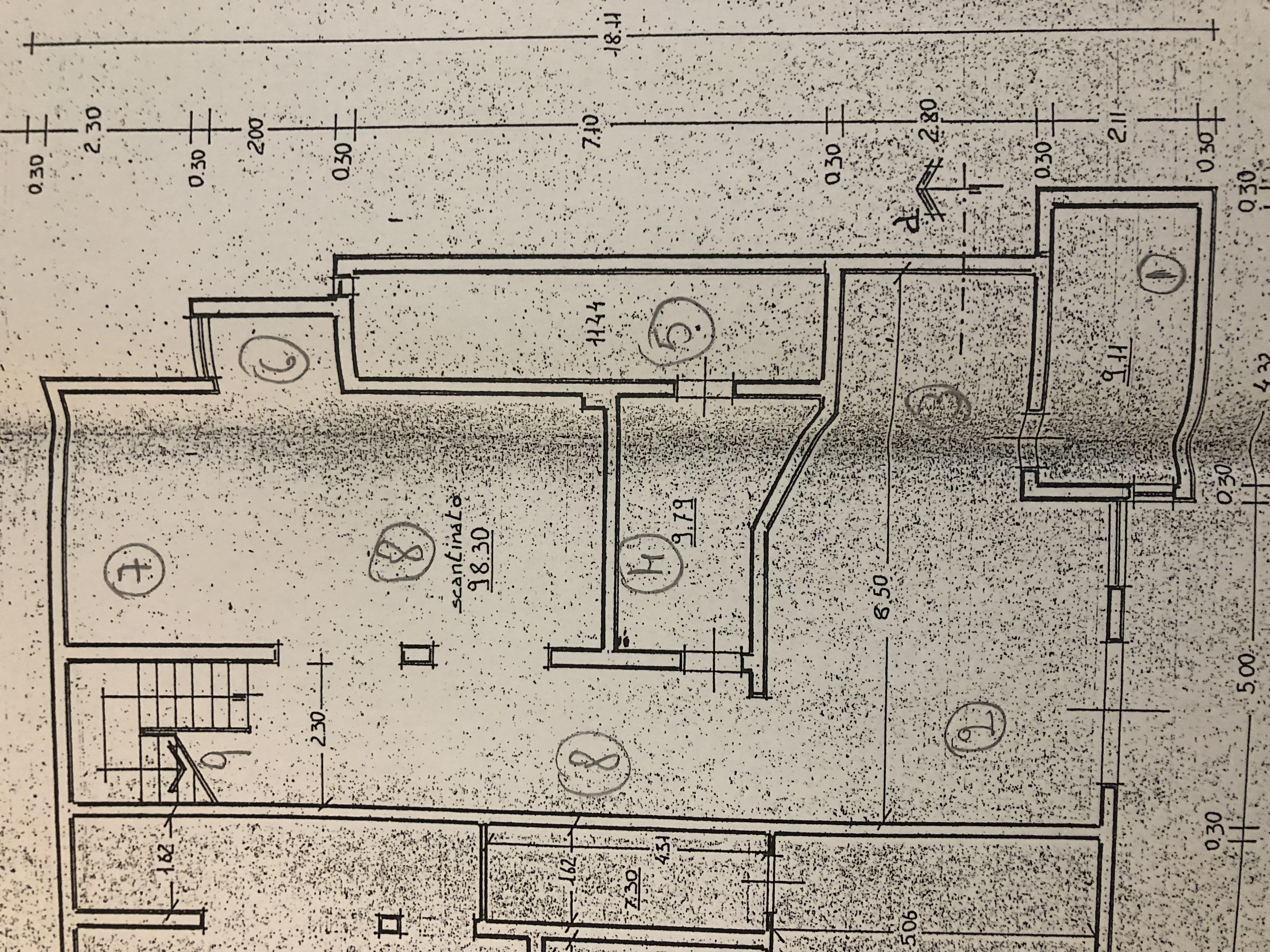 Planimetria 1/4 per rif. F/0162