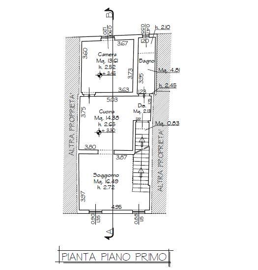 Planimetria 1/2 per rif. B/0120