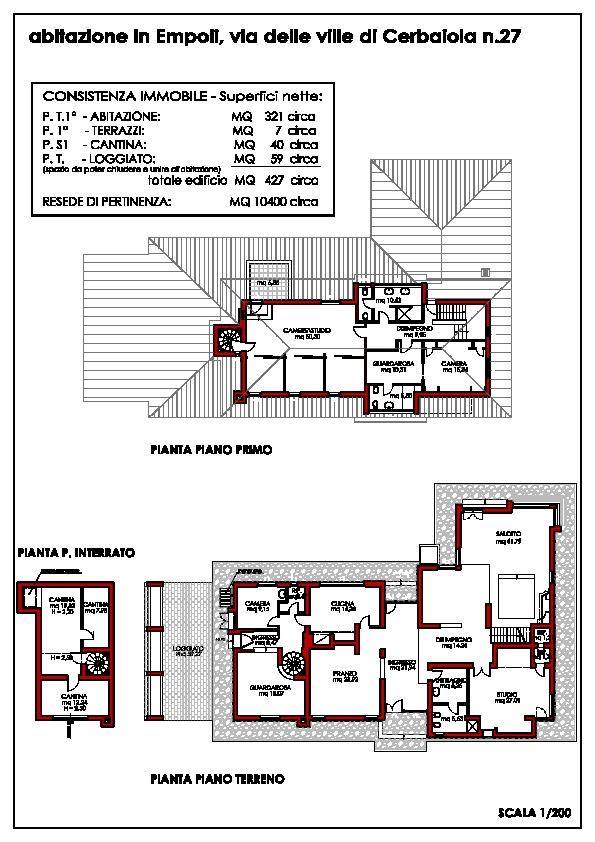 Planimetria 1/1 per rif. F/0172