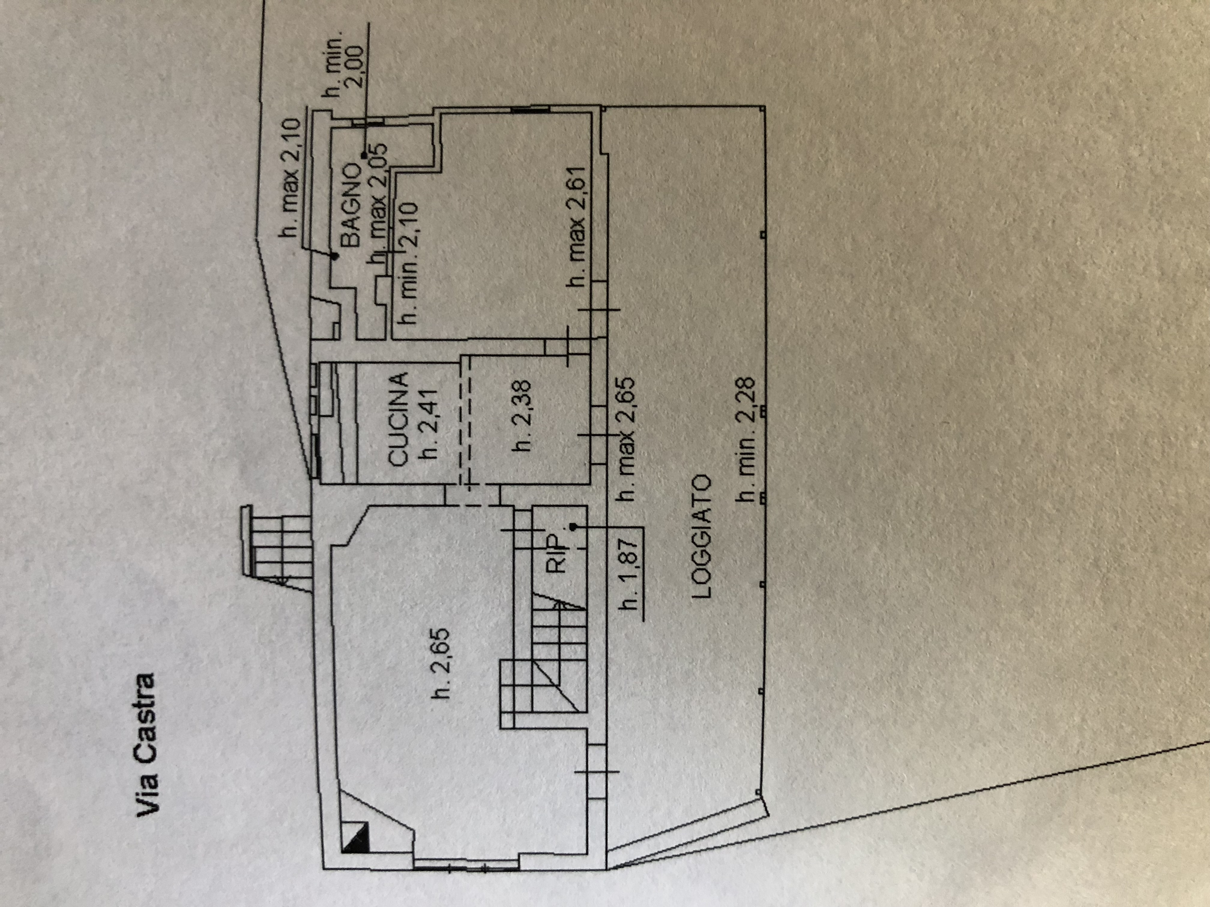 Planimetria 1/2 per rif. F/0187