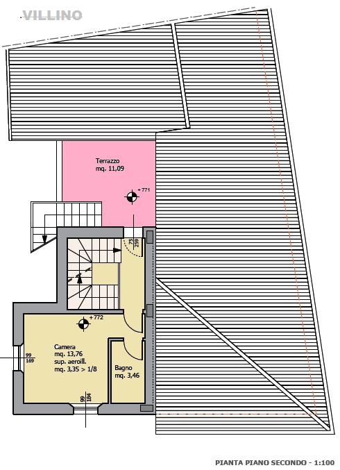 Planimetria 3/4 per rif. F/0196