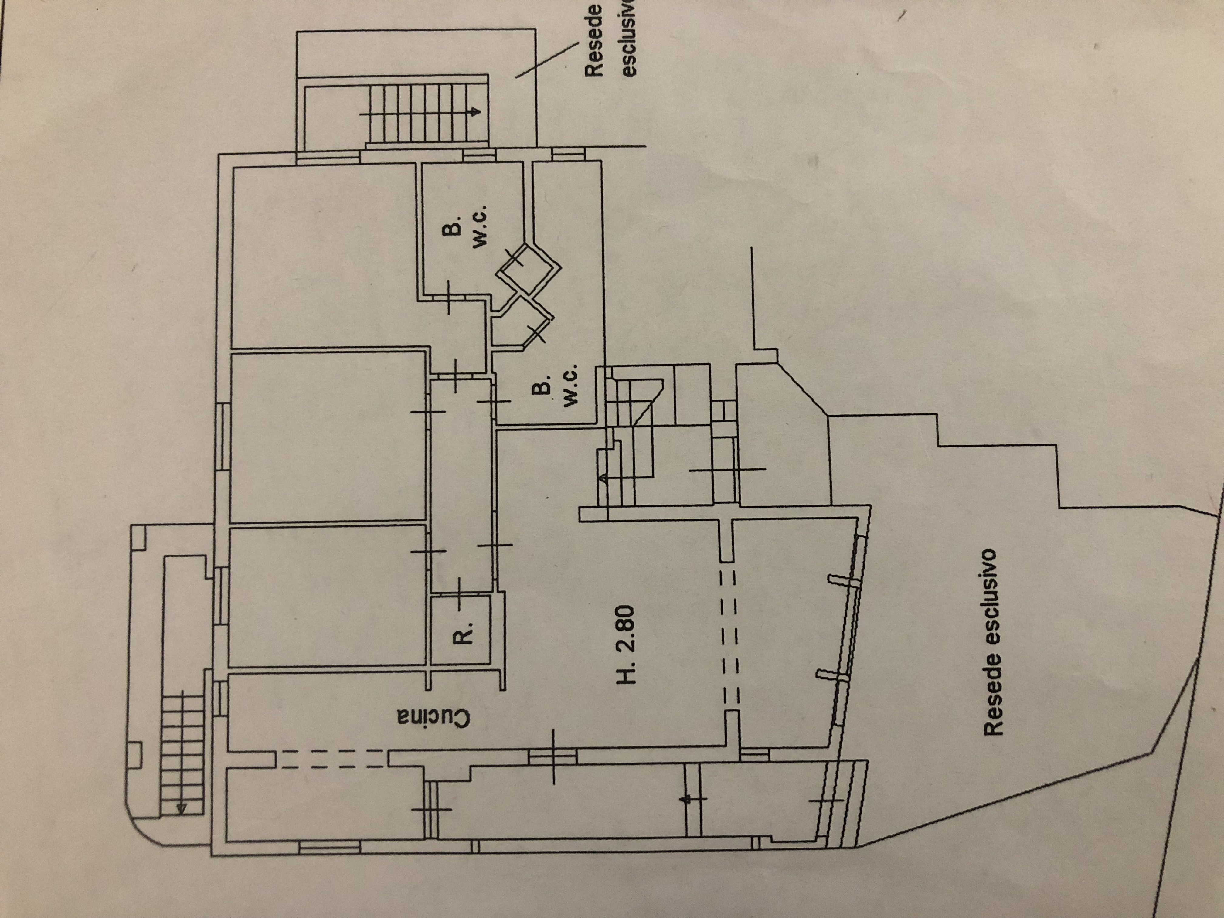 Planimetria 1/3 per rif. F/0204