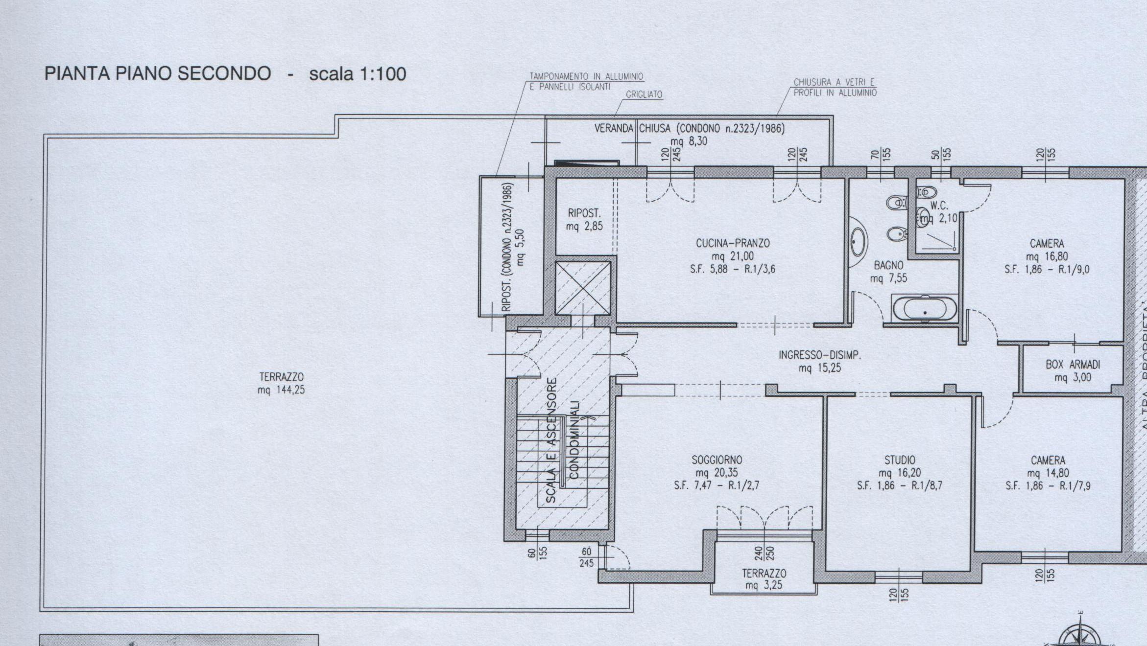 Planimetria 1/1 per rif. 7362