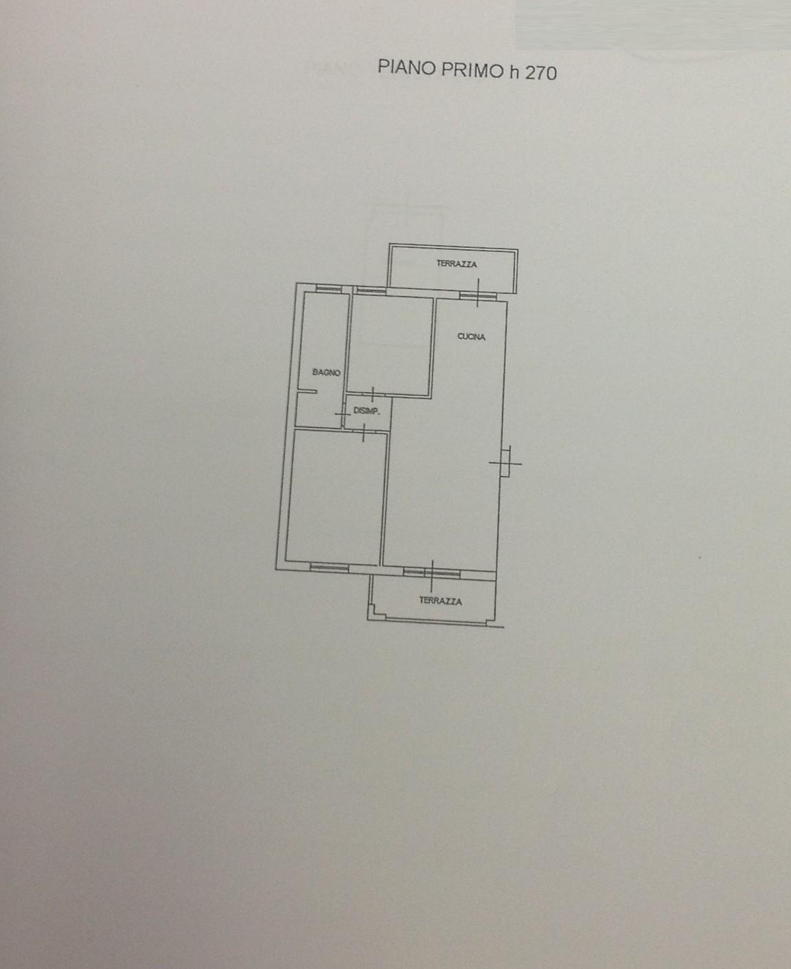 Planimetria 1/2 per rif. 7414