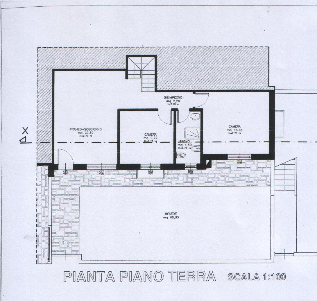 Planimetria 1/2 per rif. 8211