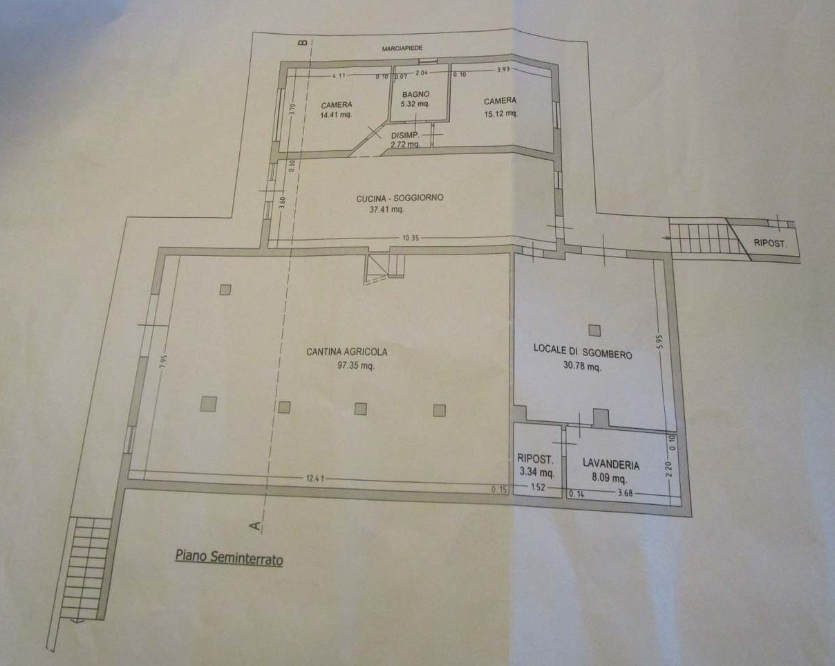 Planimetria 1/3 per rif. 7092