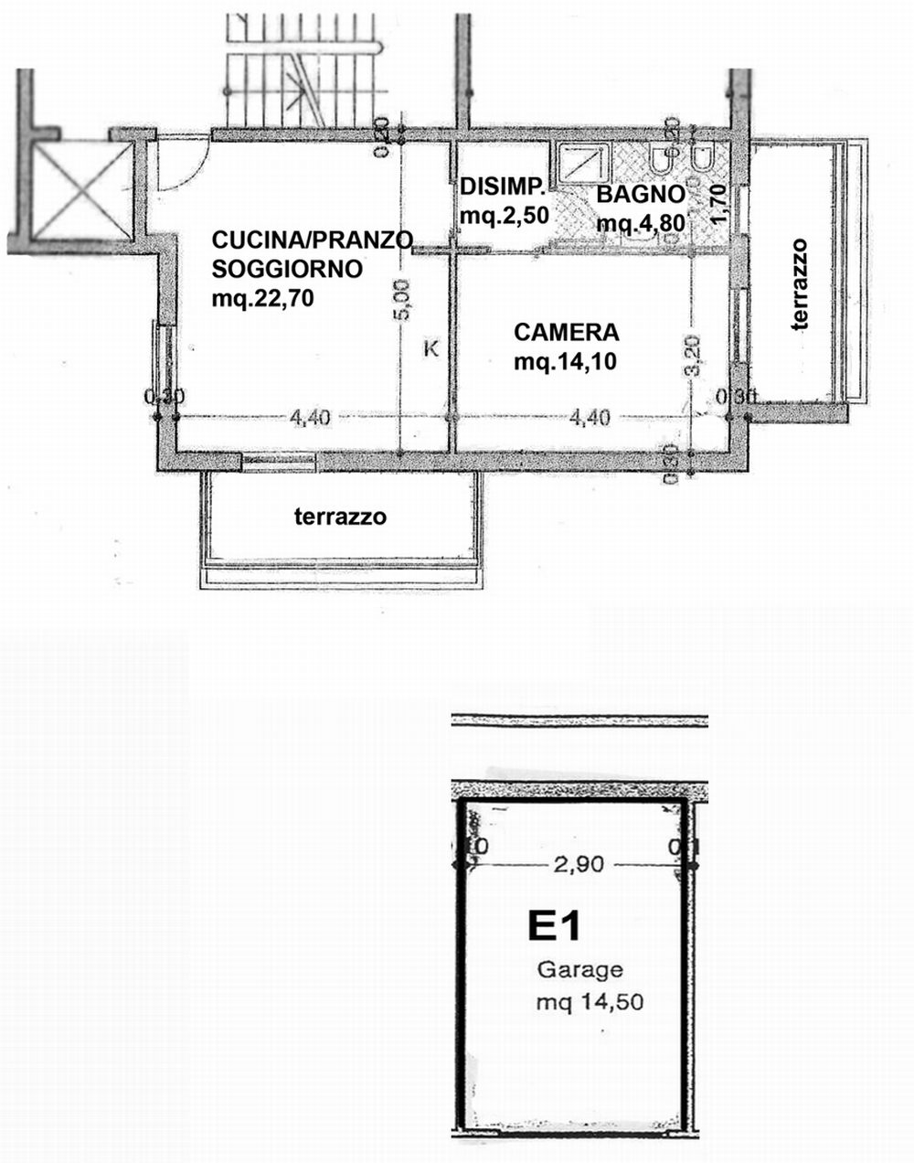 Planimetria 1/2 per rif. 3617-02