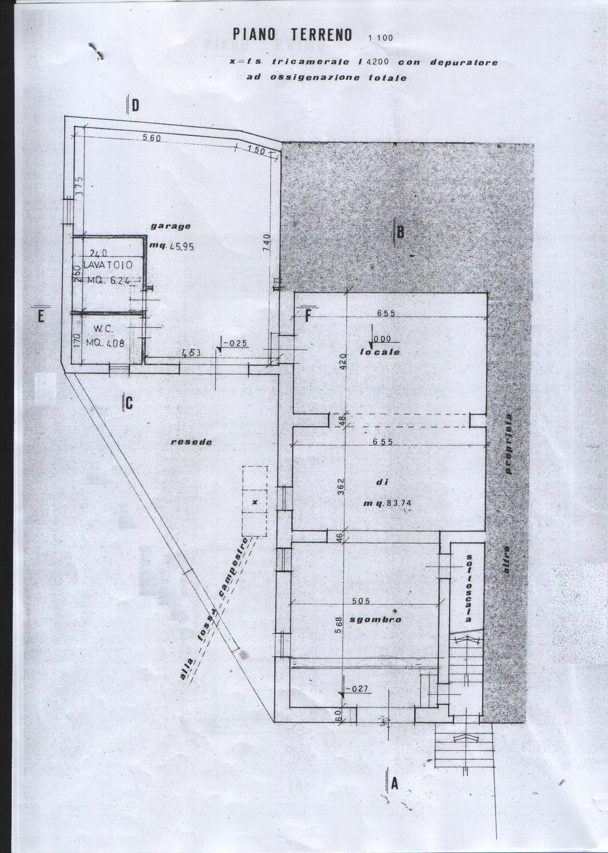 Planimetria 4/5 per rif. 7897