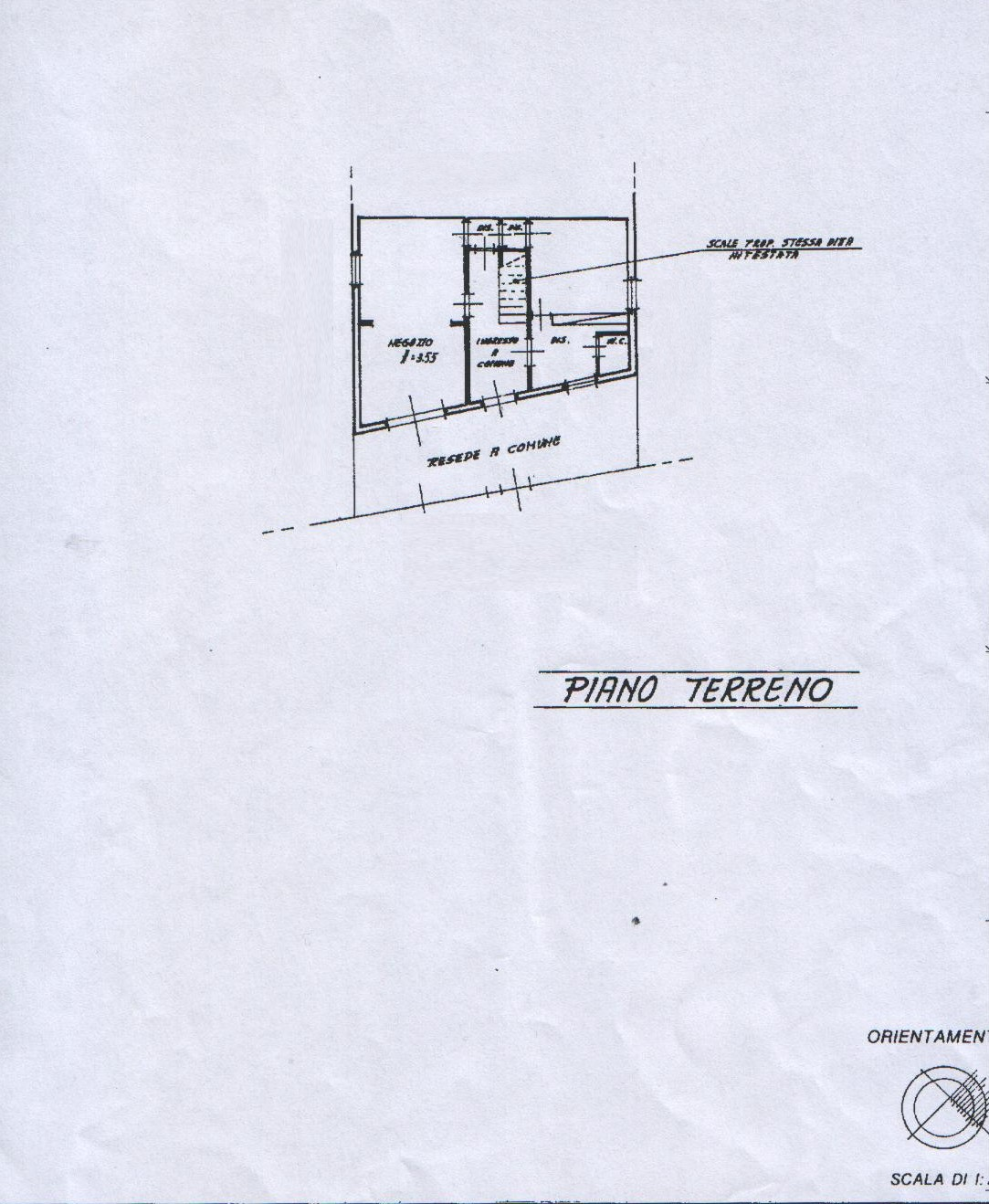 Planimetria 1/4 per rif. 8019