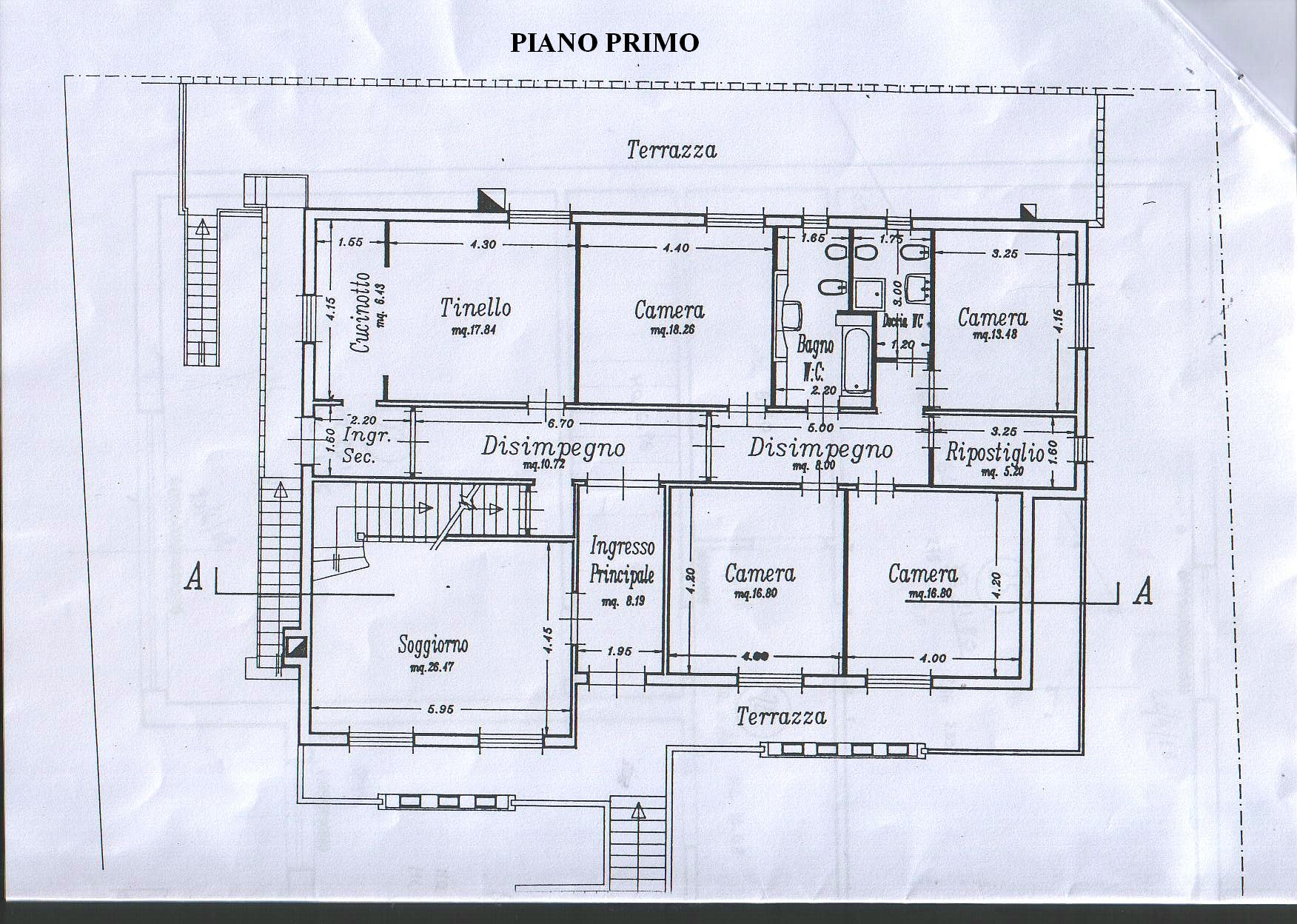 Planimetria 2/3 per rif. 4352