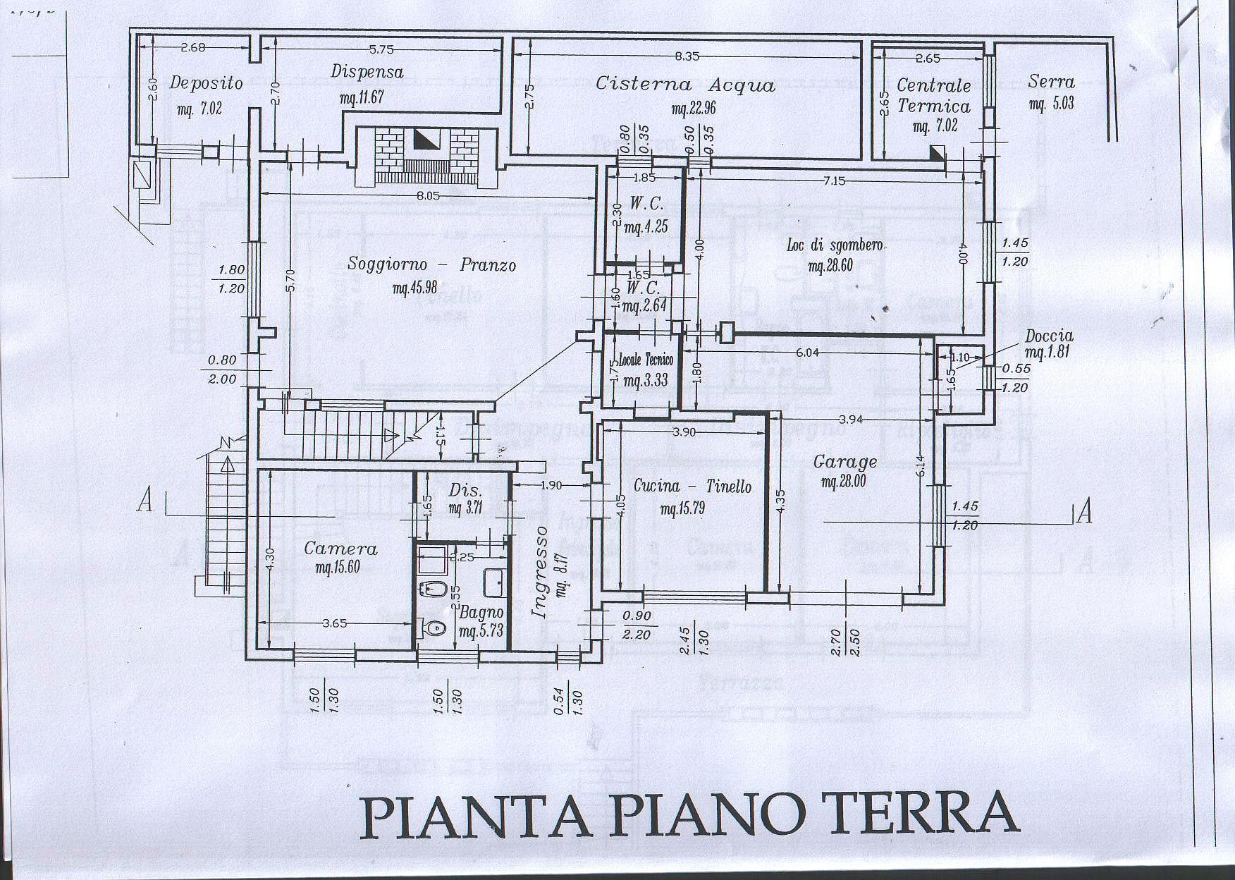 Planimetria 1/3 per rif. 4352